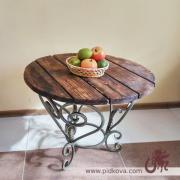 Кованый столик, оригинальный кованый столик, металлический стол