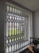 Sliding lattices metal on doors, windows, show-windows Vinnytsia